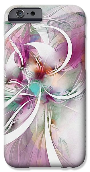 Tendrils 07 iPhone Case by Amanda Moore