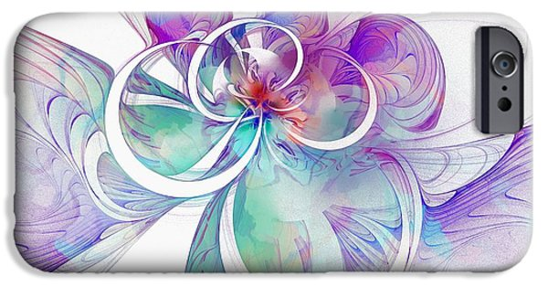 Abstract Digital iPhone Cases - Tendrils 10 iPhone Case by Amanda Moore