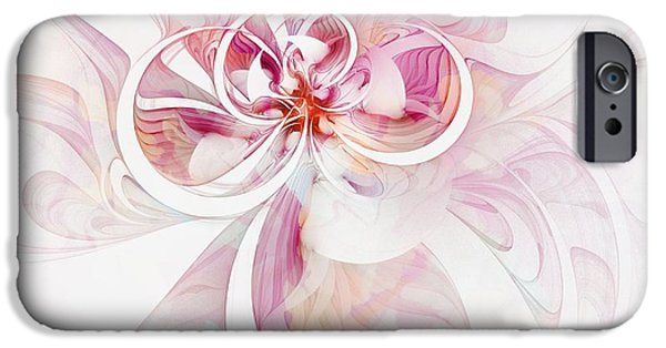 Floral Digital Art Digital Art Digital Art iPhone Cases - Tendrils 12 iPhone Case by Amanda Moore