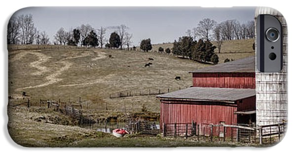 Tn Barn iPhone Cases - Tennessee Farmstead iPhone Case by Heather Applegate