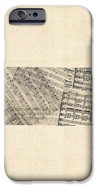 Tennessee Map Sheet Music iPhone Case by Michael Tompsett