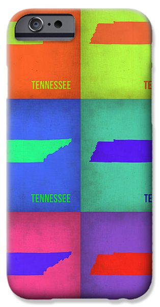 Tennessee Pop Art Map 1 iPhone Case by Naxart Studio