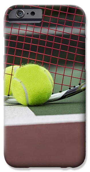 Hard Court iPhone Cases - Tennis Basics  iPhone Case by Tom  Baker