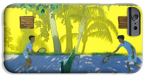 Net Paintings iPhone Cases - Tennis  Cuba iPhone Case by Andrew Macara