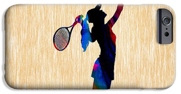 Womens Tennis iPhone Cases - Tennis Game iPhone Case by Marvin Blaine