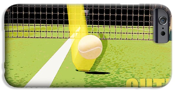 Wimbledon iPhone Cases - Tennis Hawkeye Out iPhone Case by Natalie Kinnear