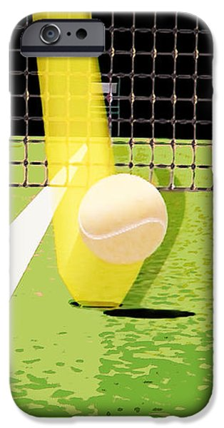 Tennis Hawkeye Out iPhone Case by Natalie Kinnear