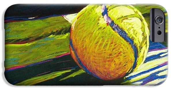 Sports Paintings iPhone Cases - Tennis I iPhone Case by Jim Grady