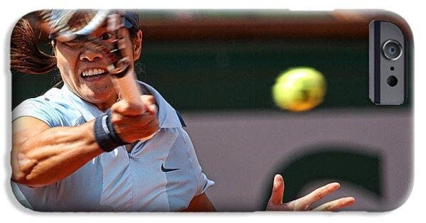Tennis China iPhone Cases - Tennis Na Li iPhone Case by Srdjan Petrovic