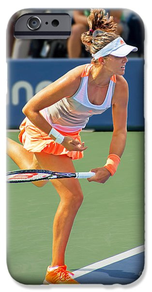 Tennis Star Laura Robson iPhone Case by Harold Bonacquist