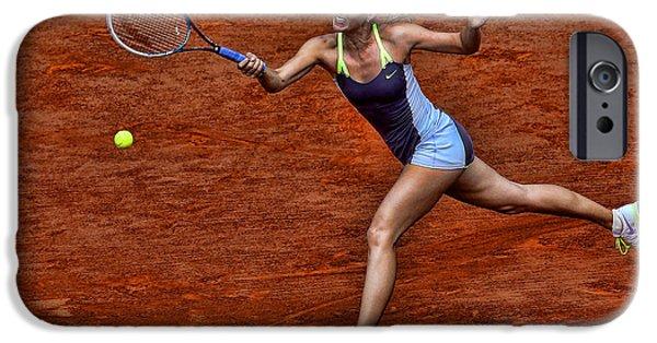 Maria Sharapova Photographs iPhone Cases - Tennis Star Maria Sharapova iPhone Case by Srdjan Petrovic