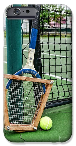 Racquet iPhone Cases - Tennis - Tennis Anyone iPhone Case by Paul Ward