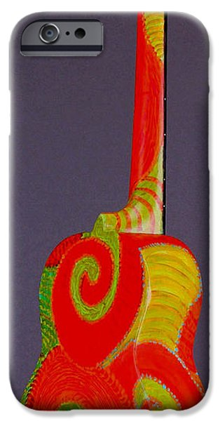 Santa Sculptures iPhone Cases - Tenor Pono Ukulele iPhone Case by Jean Groberg