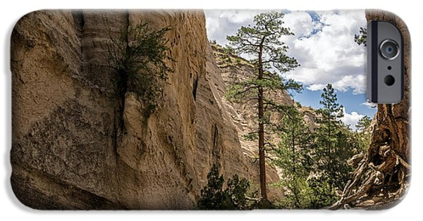 Rio Grande iPhone Cases - Tent Rocks Canyon National Monument 1 - Santa Fe New Mexico iPhone Case by Brian Harig