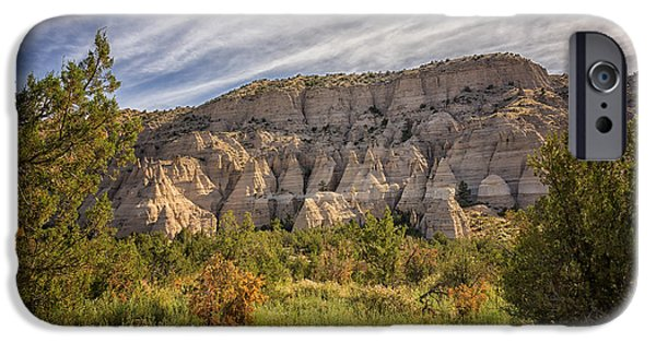Rio Grande iPhone Cases - Tent Rocks National Monument 3 - Santa Fe New Mexico iPhone Case by Brian Harig