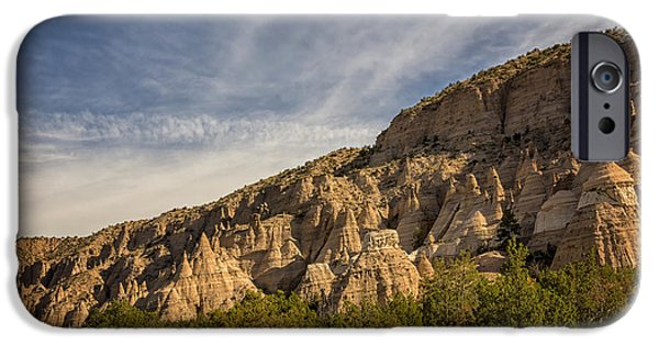 Rio Grande iPhone Cases - Tent Rocks National Monument 4 - Santa Fe New Mexico iPhone Case by Brian Harig