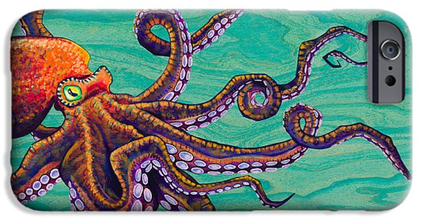 Tentacles iPhone Cases - Tentacles iPhone Case by Emily Brantley