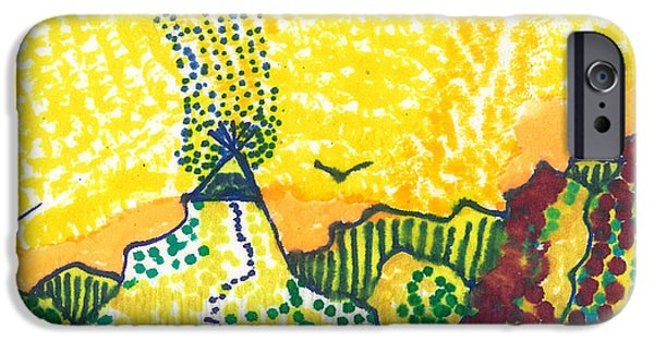 Mountain Tapestries - Textiles iPhone Cases - Tepee Mountain iPhone Case by Don Koester