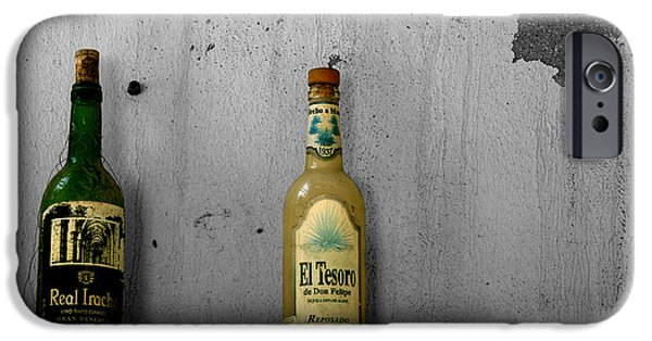 Vino Photographs iPhone Cases - Tequila And Vino Tinto iPhone Case by Cheryl Young
