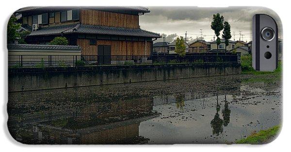 Japan House iPhone Cases - Terada Rice Paddy Estate - Japan iPhone Case by Daniel Hagerman