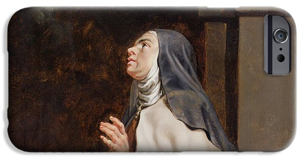 Mystic iPhone Cases - Teresa Of Avilas Vision Of A Dove iPhone Case by Peter Paul Rubens