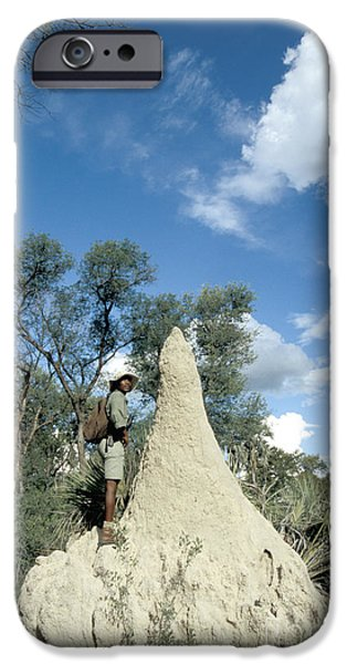 Mounds iPhone Cases - Termite Mound iPhone Case by Mark Newman
