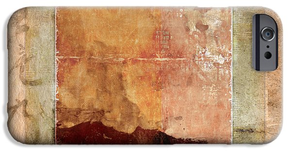 Terra iPhone Cases - Terracotta Earth Tones iPhone Case by Carol Leigh