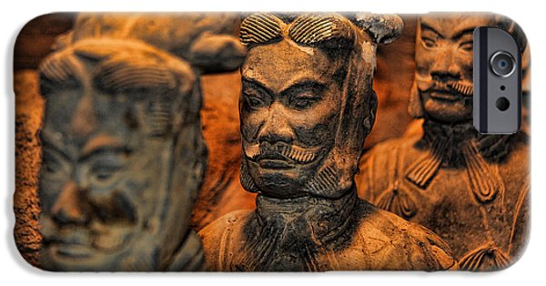 Modern World Photography iPhone Cases - Terracotta Warriors - The Emperors Army iPhone Case by Lee Dos Santos