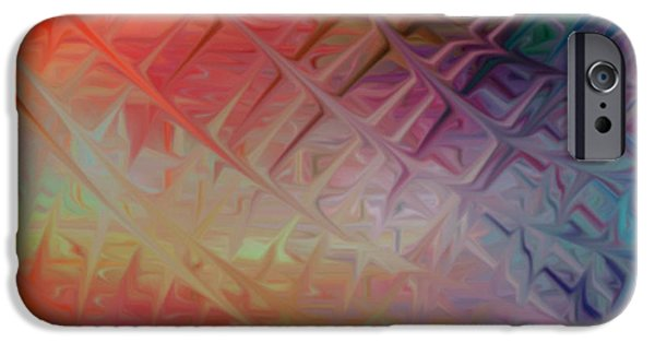 Abstract Digital Art iPhone Cases - Terrealium Web iPhone Case by Anita Lewis