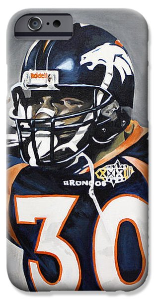 Terrell Davis  iPhone Case by Don Medina