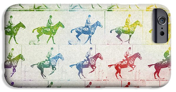 Horses iPhone Cases - Terrestrial locomotion iPhone Case by Aged Pixel