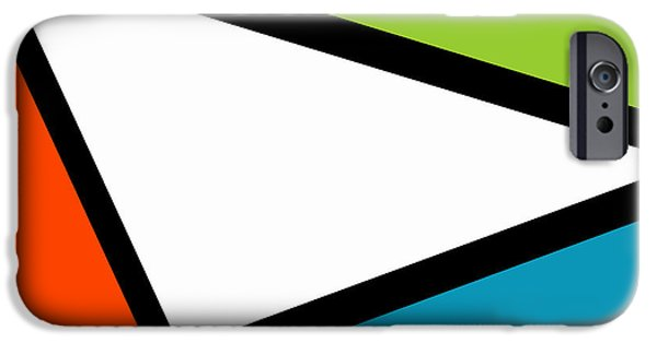 Asymmetrical iPhone Cases - Tertiary Triangularism I iPhone Case by Richard Reeve