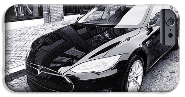 Best Sellers -  - Model iPhone Cases - Tesla Model S iPhone Case by Olivier Le Queinec