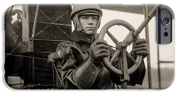 Aviator iPhone Cases - Test of a Curtiss Plane Circa 1912 iPhone Case by Aged Pixel