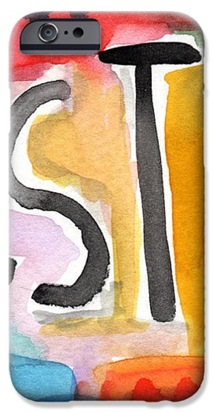 Testify- colorful pop art painting iPhone Case by Linda Woods