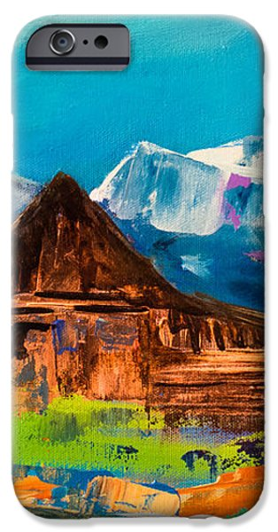 Teton Barn  iPhone Case by Elise Palmigiani