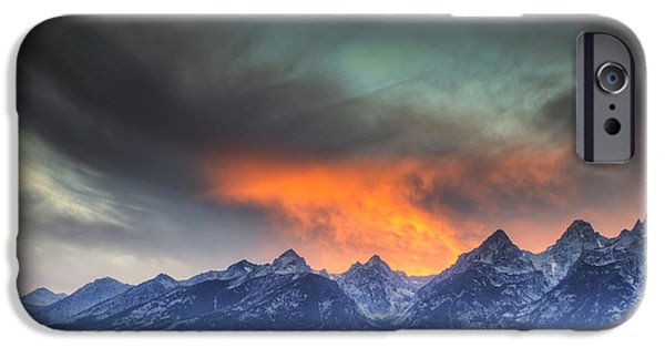 Beauty Mark iPhone Cases - Teton Explosion iPhone Case by Mark Kiver