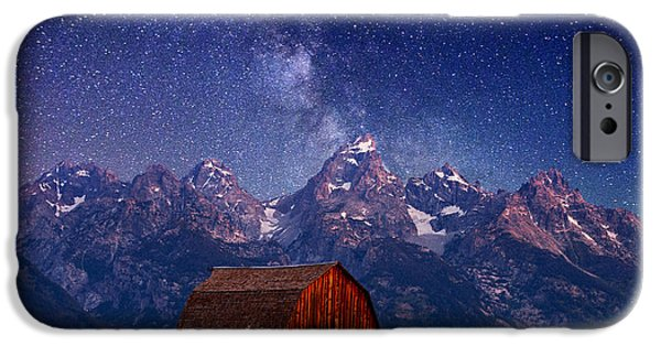 Barns Photographs iPhone Cases - Teton Nights iPhone Case by Darren  White