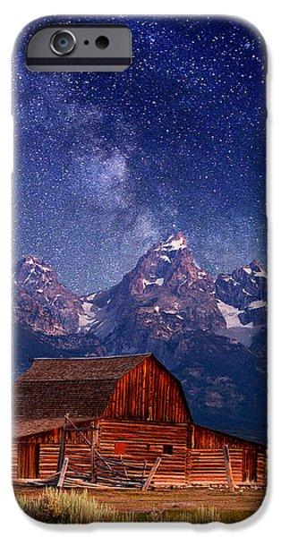 Teton Nights iPhone Case by Darren  White