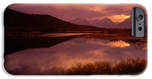 Serenity Landscapes iPhone Cases - Teton Range, Mountains, Grand Teton iPhone Case by Panoramic Images