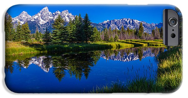 Pine Tree iPhone Cases - Teton Reflection iPhone Case by Chad Dutson
