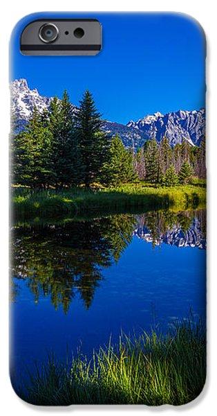 Teton Reflection iPhone Case by Chad Dutson