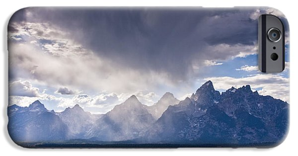 Beauty Mark iPhone Cases - Teton Storm iPhone Case by Mark Kiver