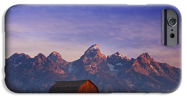 Barns iPhone Cases - Teton Sunrise iPhone Case by Darren  White