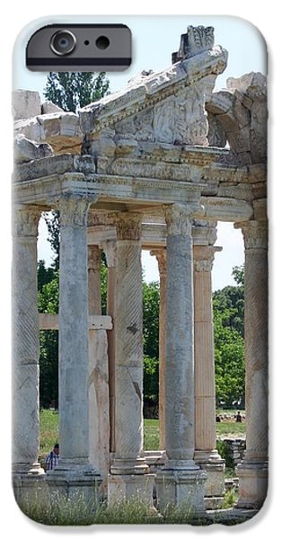 Tetrapylon The Arched Gate of Aphrodisias iPhone Case by Tracey Harrington-Simpson