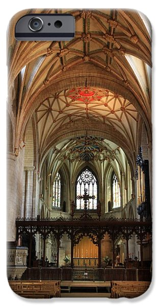 War iPhone Cases - Tewkesbury Abbey iPhone Case by Stephen Stookey