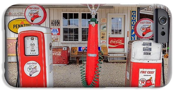 Indiana Landscapes iPhone Cases - Texaco Firechief iPhone Case by Keith Allen