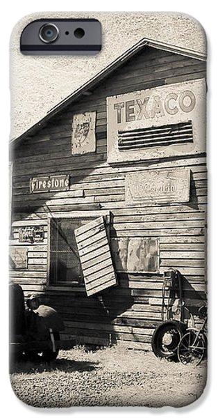 Texaco Gas Station iPhone Case by Athena Mckinzie