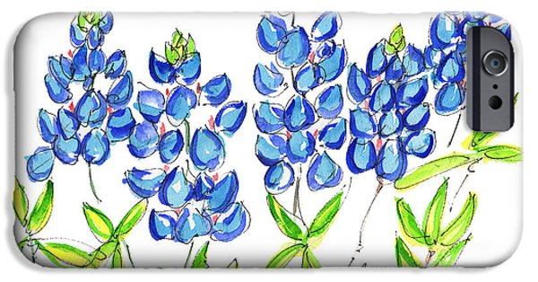 Kathleen iPhone Cases - Texas Bluebonnets  iPhone Case by Kathleen McElwaine