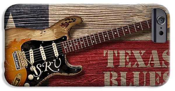 Fender Strat iPhone Cases - Texas Blues iPhone Case by WB Johnston